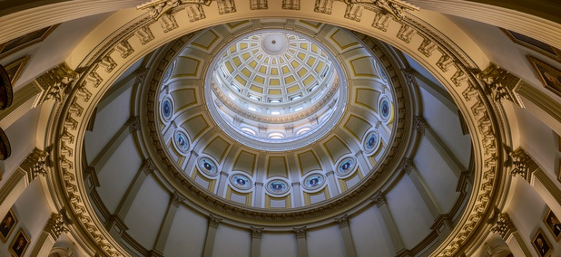 The Rotunda of the Colorado State Capitol in Denver.