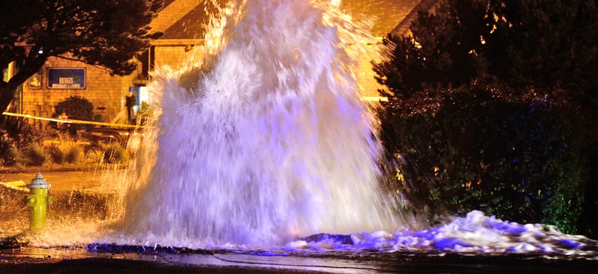 An estimated 240,000 water mains burst every year in the United States.