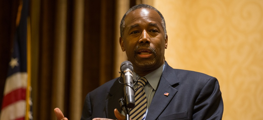 "HUD Secretary Ben Carson said veteran homelessness is ""a difficult problem because not every homeless veteran is coming to us and saying, 'Please help me'."""