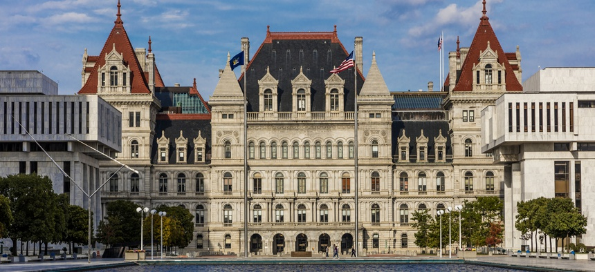 The New York State Capitol complex in Albany.
