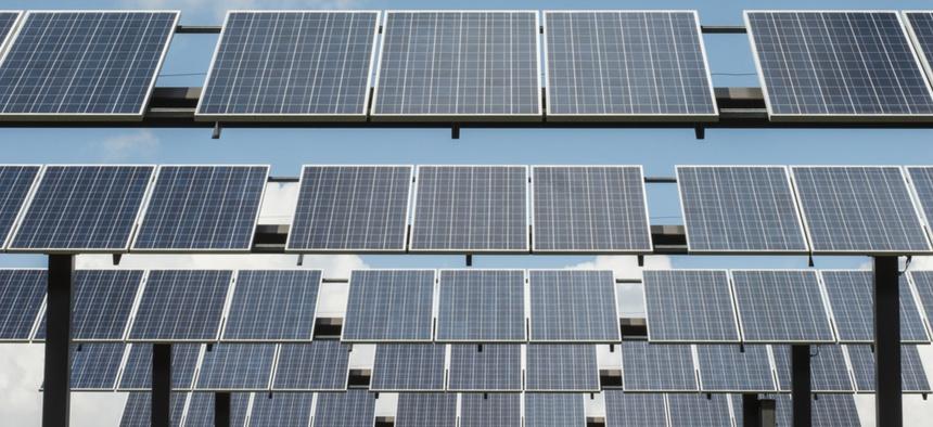 Solar panels in Wisconsin.