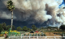 Smoke from the Nov. 9 wildfires fills the air in Malibu, California.