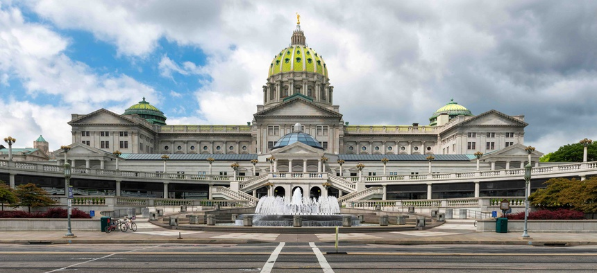 Pennsylvania's state capital building in Harrisburg.