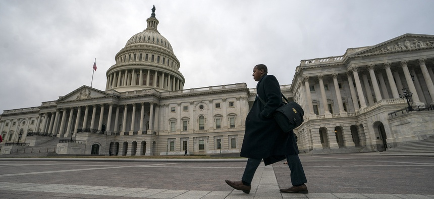 The Capitol is seen as the partial government shutdown lurches into a third week with President Donald Trump standing firm in his border wall funding demands, in Washington, Monday, Jan. 7, 2019.