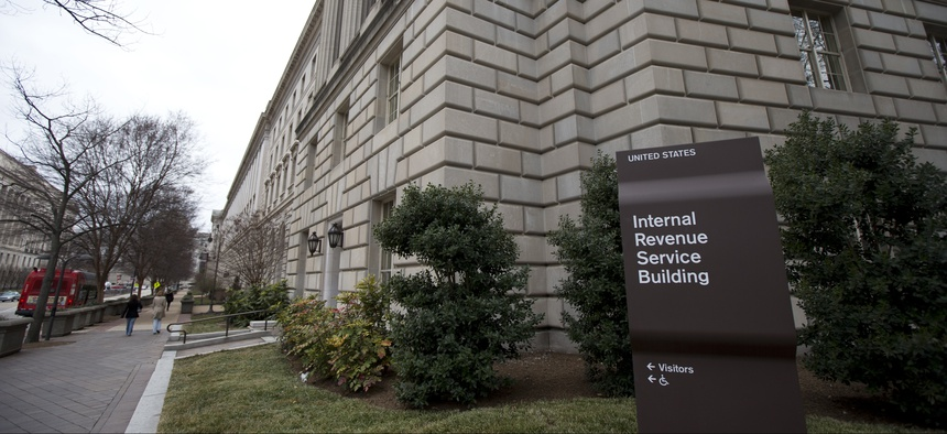 The Internal Revenue Service building at the Federal Triangle complex in Washington, Saturday, March 2, 2013.