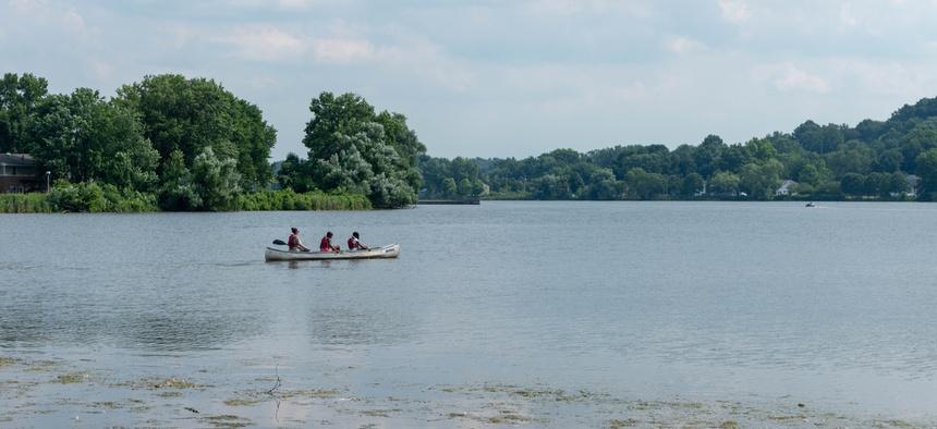 Summit Lake in Akron, Ohio