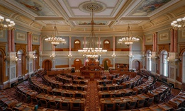 House of Representatives chamber of the Kansas Capitol building.