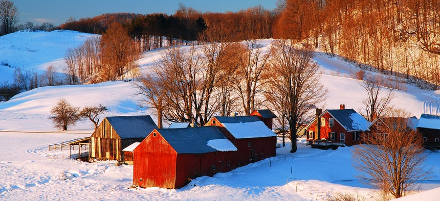 A farm near Woodstock, Vermont