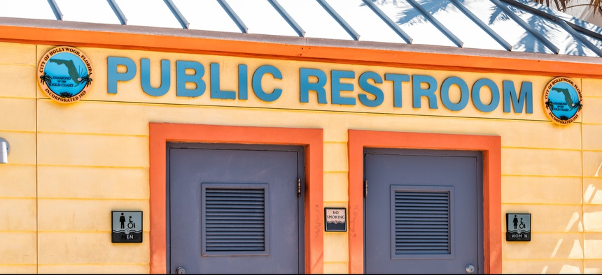 A public restroom in Hollywood, Florida.