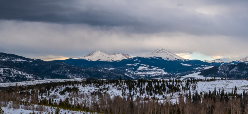 Looking toward Frisco from Silverthorne, Colorado.