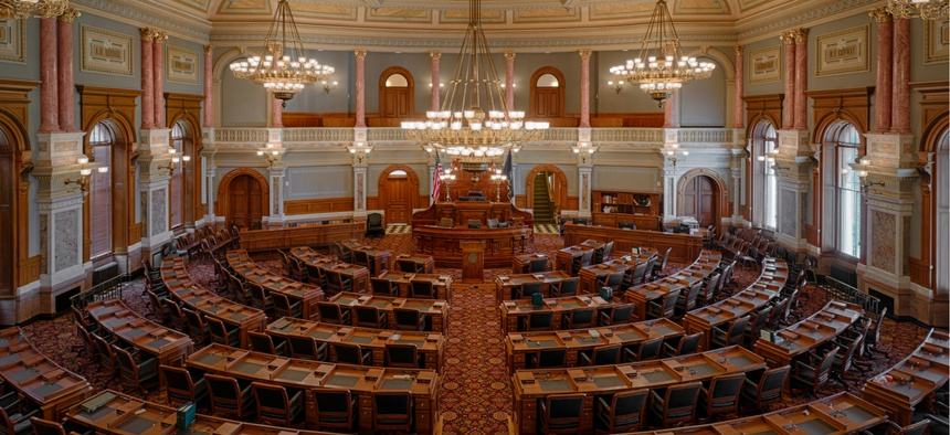 House of Representatives chamber of the Kansas State Capitol building
