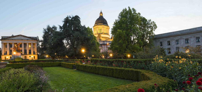 The Washington state capitol building in Olympia.