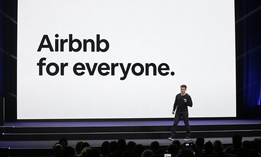 In this Feb. 22, 2018, photo, Airbnb co-founder and CEO Brian Chesky speaks during an event in San Francisco.