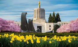 The Oregon state Capitol building in Salem.