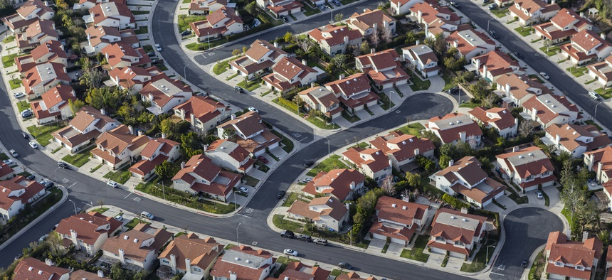 Homes in the Porter Ranch community of Los Angeles, California.