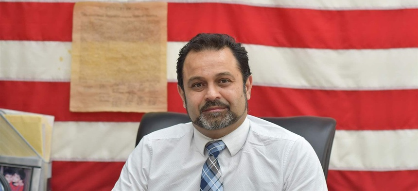 Mohammad Razvi, founder of the Council of Peoples Organization, in the organization's headquarters in the Little Pakistan section of Midwood, Brooklyn. Razvi said the immigrant community faces a census undercount next year without more outreach.