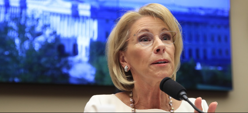 Education Secretary Betsy DeVos testifies before the House Education and Labor Committee.