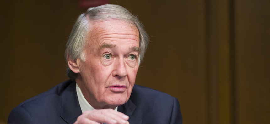 U.S. Sen. Ed Markey, D-Mass., speaks during a Senate Transportation subcommittee in March 2019.