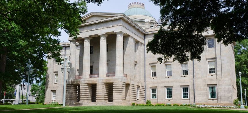North Carolina state capitol building in Raleigh.
