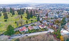 The Lake View Cemetery in Seattle's Capitol Hill neighborhood.