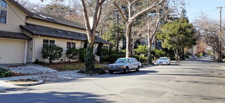A street in East Palo Alto.