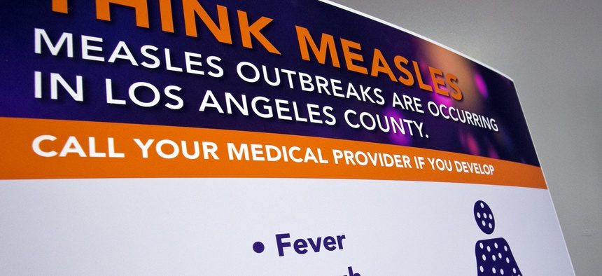 Hundreds of college students were quarantined in California after a measles outbreak was declared in Los Angeles.
