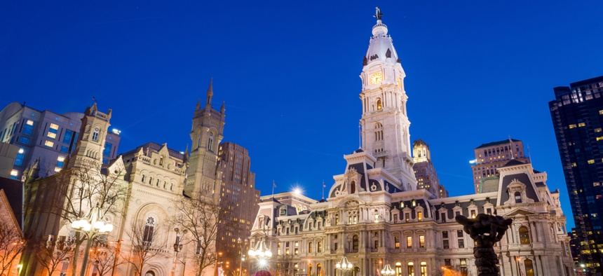 Philadelphia's landmark historic City Hall
