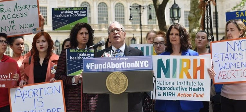 Scott Stringer speaks about the need to directly fund abortions at the city level.