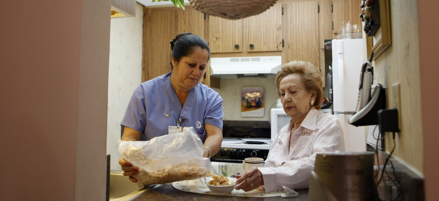 Independent home health aides funded by Medicaid can no longer elect to have union dues deducted from their paychecks.