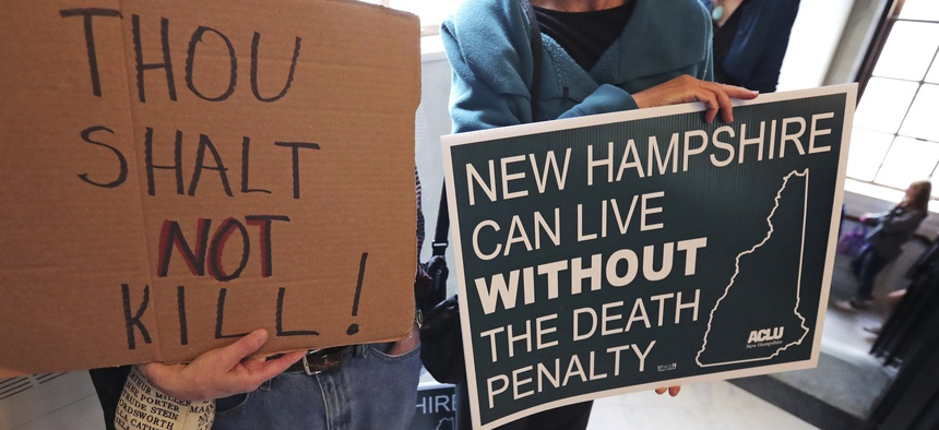 After overriding a gubernatorial veto, the New Hampshire state legislature abolished the death penalty.