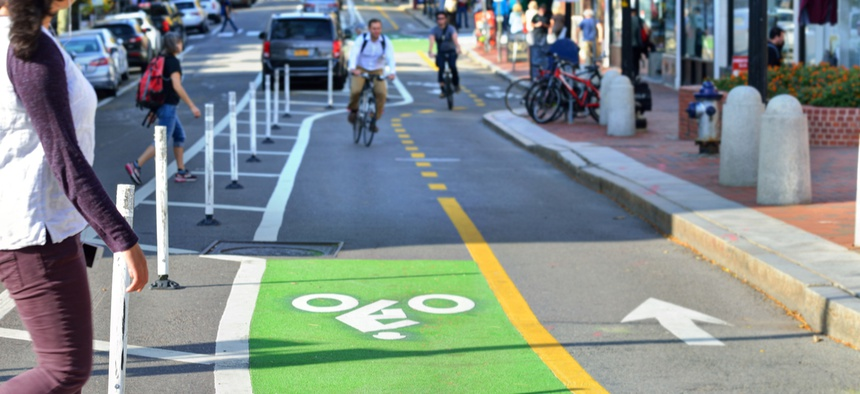 Protected lanes for cyclists make drivers safer, too.
