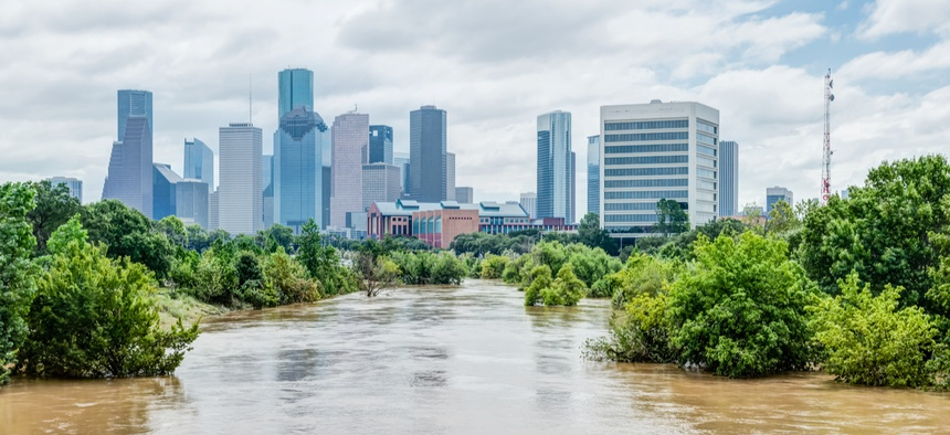 Flooding from Hurricane Harvey left Houston underwater in 2017.