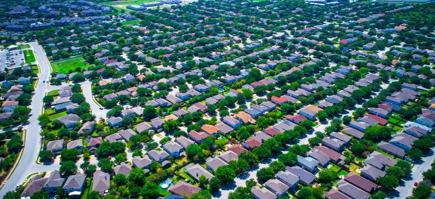 Suburbs in Austin, Texas.