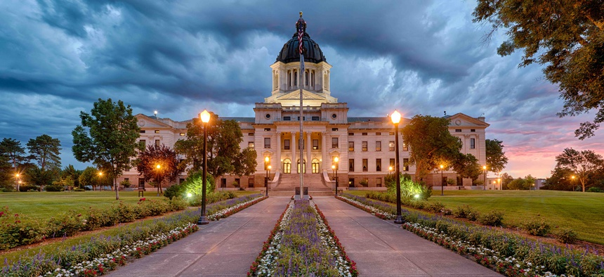 The South Dakota State Capitol building in Pierre.