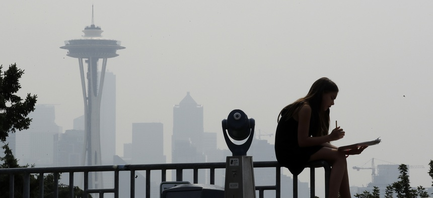 Wildfires have created a smoky haze in Seattle.