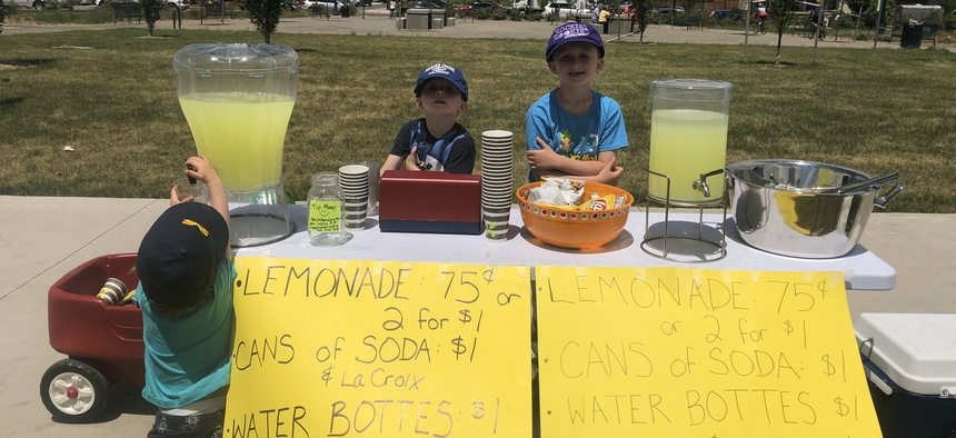 Lemonade stands typically are shut down for violation of permit requirements or health-code standards.