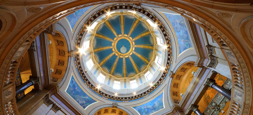 Inside the Minnesota state capitol. Lawmakers in the state adopted new savings policies in the wake of the Great Recession.