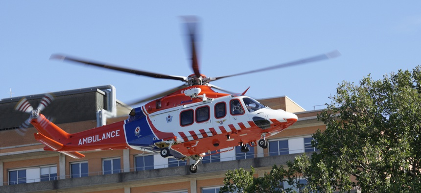 The legislation was inspired by a $55,000 air ambulance bill.