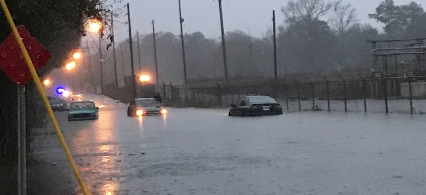 Flash flooding in Mississippi earlier this year.
