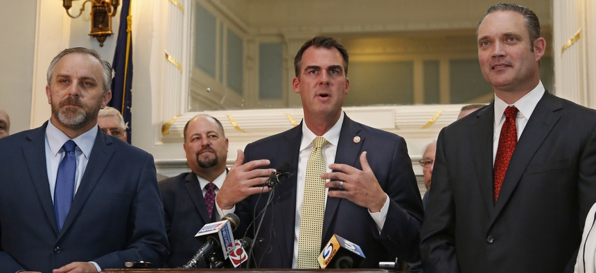 Oklahoma Gov. Kevin Stitt restricted the ability of state agencies to hire lobbyists.