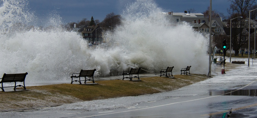 """High-tide flooding, also referred to as """"nuisance"""" flooding, occurs during high tide events, even in the absence of storms."""