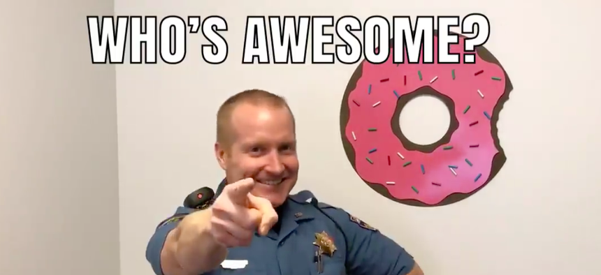 Donuts are a frequent guest star in Trooper Josh Lewis' videos.