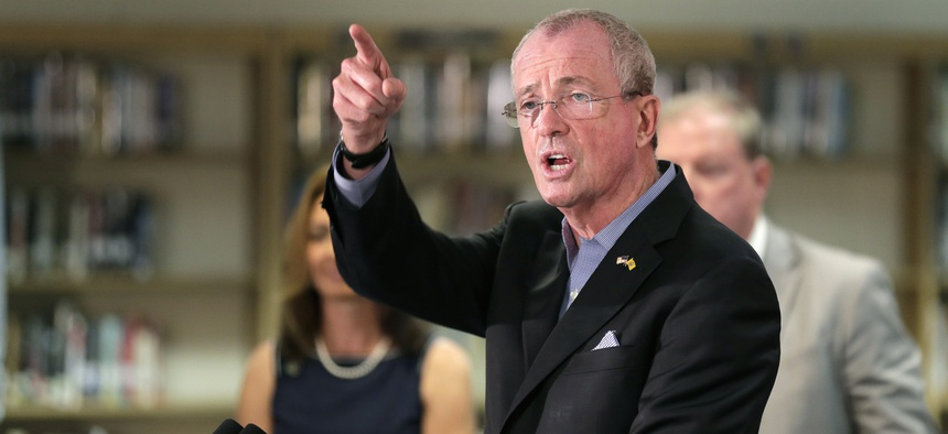 "New Jersey Gov. Phil Murphy, a Democrat seen here at an event earlier this month, says new IRS rules related to the state and local tax deduction amount to a ""weaponization of the tax code."""