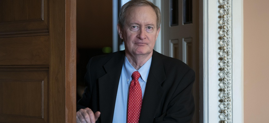 Sen. Mike Crapo, R-Idaho, seen here in April, voiced an openness on Tuesday to legislation addressing roadblocks to banks serving state-regulated marijuana companies.