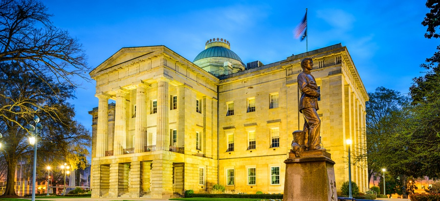 The North Carolina Capitol building in Raleigh.