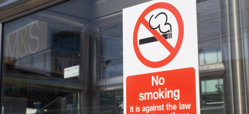 "Some local governments are going beyond smoke-free workplaces to ""smoker-free"" workplaces."