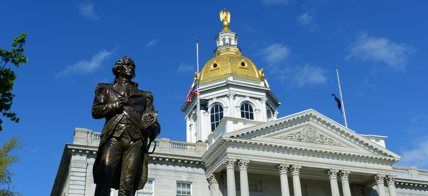 The New Hampshire state capital.