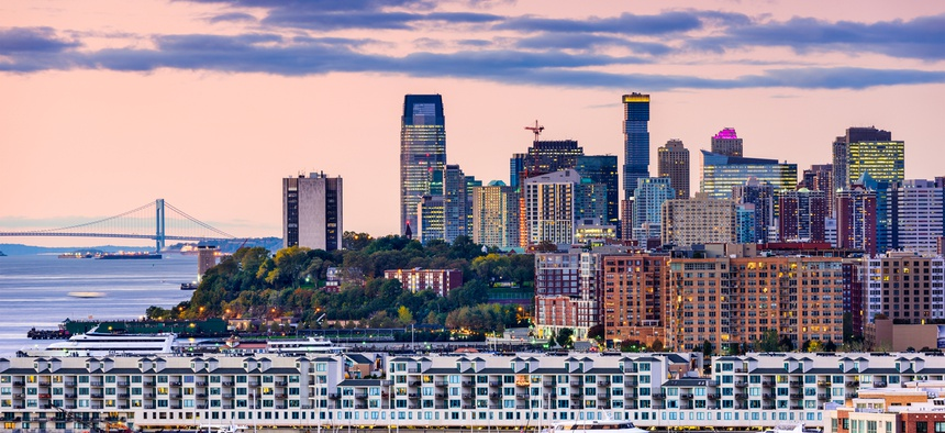 A view of Jersey City's skyline.