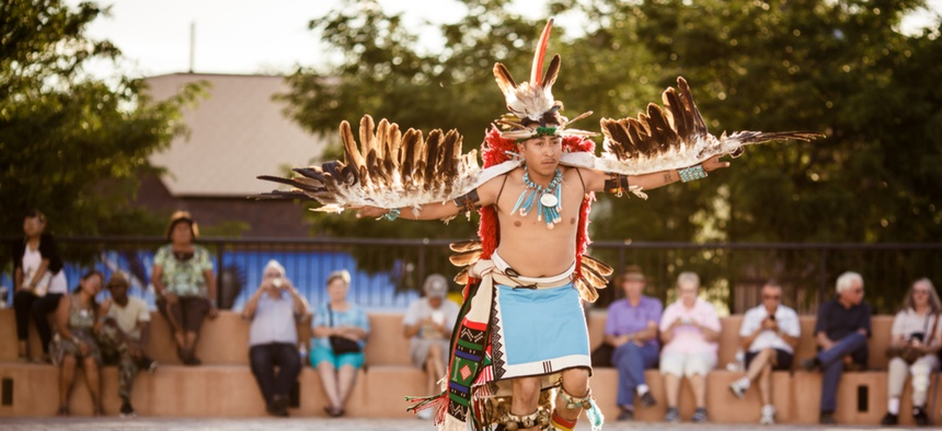 The annual Inter-tribal ceremonial night parade happens in Gallup, New Mexico each year. The state is home to the new Indigenous Peoples' Day state holiday..