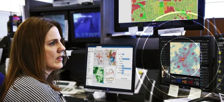 Location intelligence inside control room